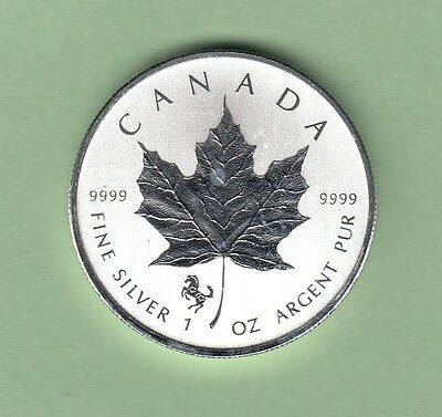 2014 Canadian Silver Maple Leaf 1oz Coin - Year of the Horse Privy Mark