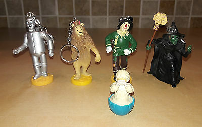 Vintage Wizard of Oz Lot of 5 Figurines Loew's Ren Turner - Keychains