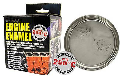 E-Tech High Heat Car Vehicle Engine Gloss Finish Enamel Paint 250ml- Silver