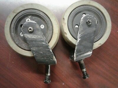 Jazzy Elite power wheelchair rear caster wheel tire Assy pair lot flat free