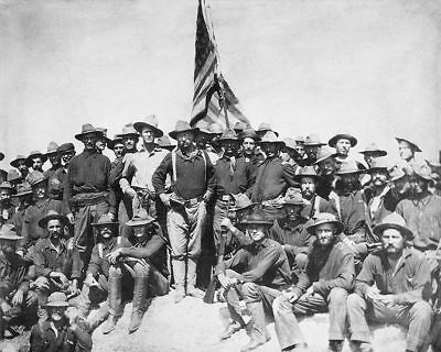 Teddy Roosevelt and the Rough Riders 1898 8x10 Silver Halide Photo Print