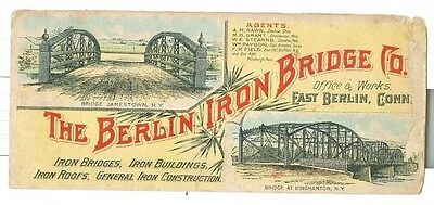 Vintage Berlin Iron Bridge Company Connecticut