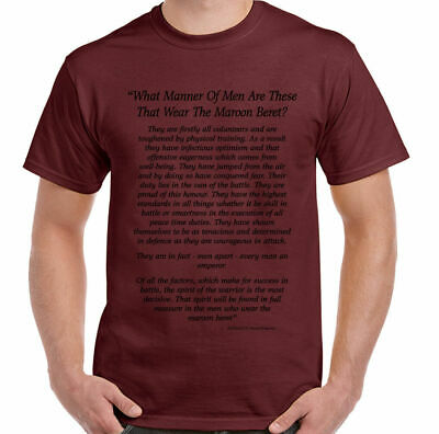What Manner Of Men Mens The Parachute Regiment T-Shirt 1 2 3 4 Para Airborne