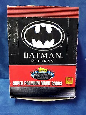 1991 TOPPS STADIUM CLUB BATMAN RETURNS WAX BOX with 36 packs