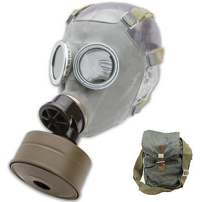 Real Polish Military Gas Mask With Sealed Filter unissued surplus army adult NBC