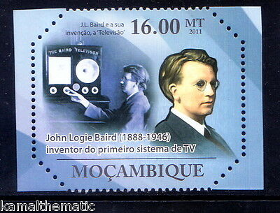 Mocambique MNH, John Logie Baird, Inventor of world's 1st practical Television -