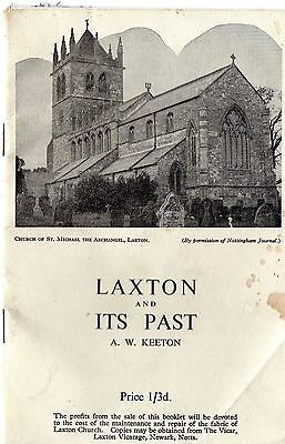 Nottinghamshire: Laxton and its Past (Keeton) 1950s local history