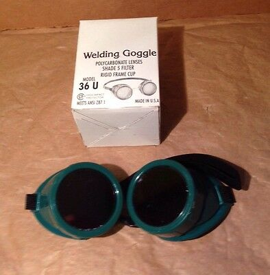Welding Goggles Glasses Lens Polycarbonate Shade 5 Green NIP