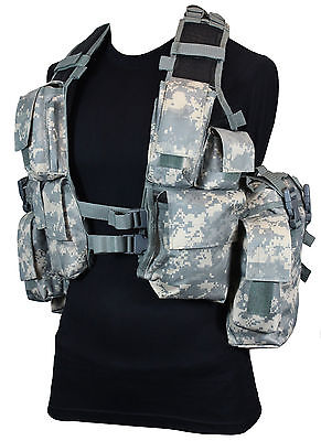 12 POCKET AT Digital Camo Tactical Assault VEST Rig Army Military Ammo Pouch
