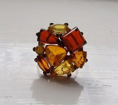 A 925 silver & Baltic amber ring - boxed