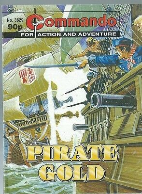 Pirate Gold,commando For Action And Adventure,no.3629,war Comic,2003