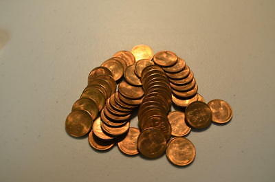 1951 S Roll of Uncirculated Lincoln Cents. 50 Coins. Gem BU
