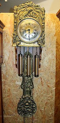Old Big Clock Comtoise Westminster 3 Weight Brass Chime clock*Belcanto*