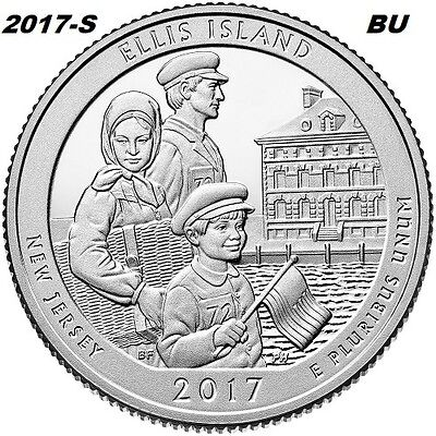 2017-S Ellis Island Uncirculated National Park Quarter - I Have All Atb Quarters