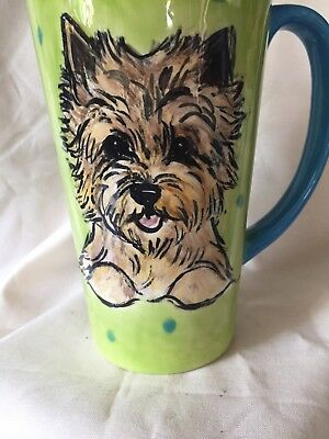 Cairn  terrier Latte Cup Hand Painted Kiln Fired By Darci