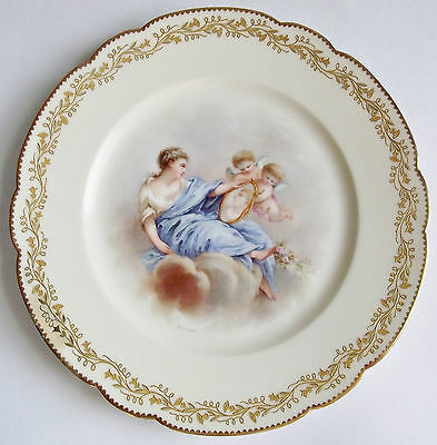 Sevres LeRosey PSYCHE CHERUB French PORCELAIN CABINET PLATE ARTIST SIGNED France