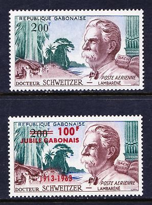 Gabon 1960 & 1963 Dr. Albert Schweitzer - Mint hinged - Cat £10 - (21)