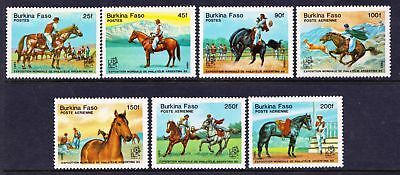 "Burkina Faso 1985 ""Argentina '85"" Stamp Exhibition - HORSES MNH set - (6)"