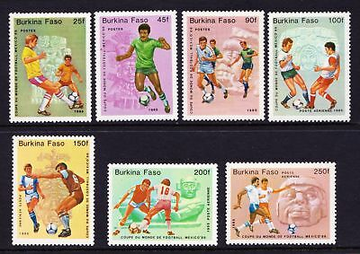 Burkina Faso 1985 World Cup Football Mexico Soccer - MNH set - Cat £10 - (7)