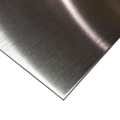 "304 Stainless Steel Sheet, .029"" (22 ga.) x 24"" x 48"" - #4 Brushed (with length)"