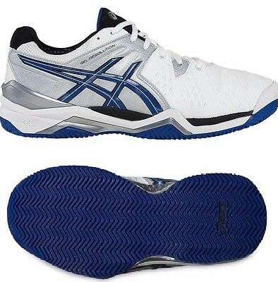 Mens asics Gel Resolution 6 Clay Court Tennis Shoes Trainers Size UK 12 Euro 48