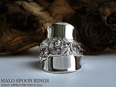 Stunning And Chunky  Norwegian Silver Spoon Ring In Sizes Q R S T U V W X Y Z