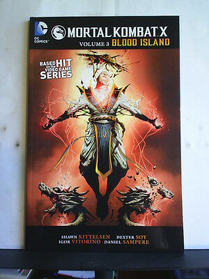 GRAPHIC NOVEL: MORTAL COMBAT X - VOLUME 3: BLOOD ISLAND Paperback 2016 1st print