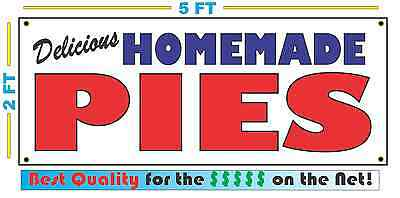 HOMEMADE PIES BANNER Sign NEW Larger Size Best Quality for the $$$ BAKERY