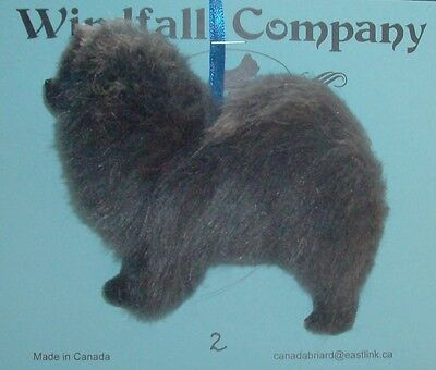 Blue Chow Chow  Dog Plush Christmas Ornament # 2 by WC