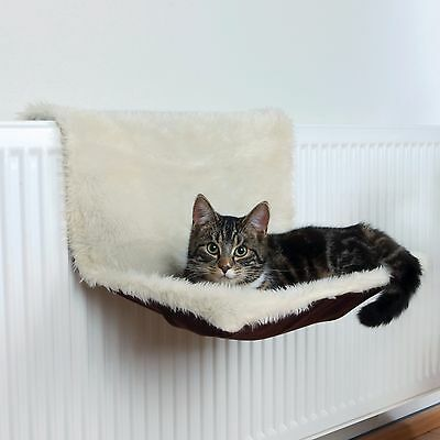 New Trixie Radiator Hammock Long-haired Plush / Suede Look Cat Bed 43141