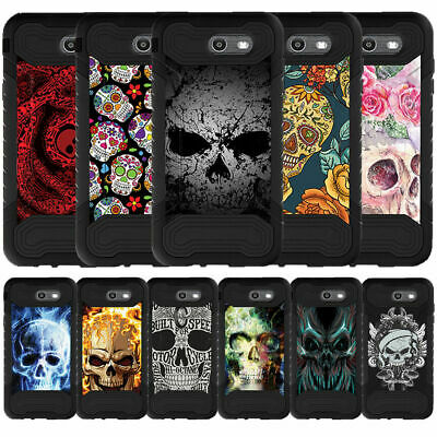 For Samsung Galaxy On7 | J7 Prime | J7 Halo (2017) Dual Layer Case Skulls