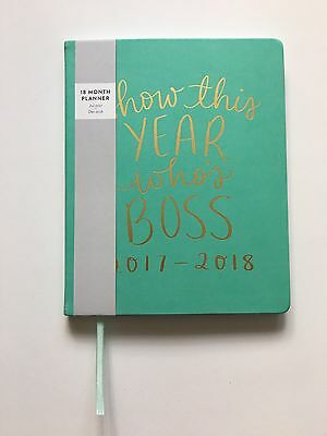 2017 2018 Eccolo 'Show This Year Who's Boss' Blue Green Planner Agenda