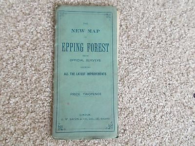 Vintage map of Epping Forest.