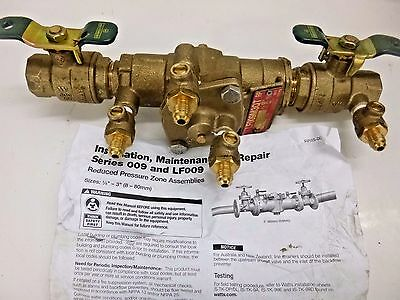 New!! Watts Reduced Pressure Zone Backflow Preventer 3/4 Lf009M3-Qt