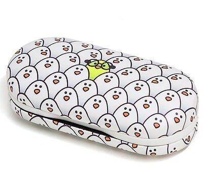 Balvi CONTACT LENS & GLASSES CASE 2 in 1 SPECTACLES Twin Case PENGUIN White