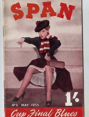 Span May 1955 Vol. 1 No. 9 Vicki Page Judy Rodger Gloria Latham Ann Melton