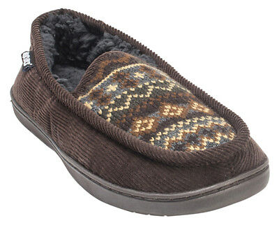Muk Luks Henry Men's Corduroy Slippers House Shoes Size SMALL 8-9