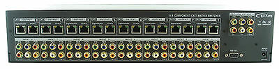 Shinybow 8x8 Component 5-RCA Audio Video Matrix Switcher & CAT5/6 Extender
