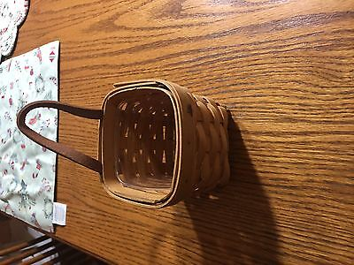 longaberger 1999 chives booking basket with protector ~img#7379