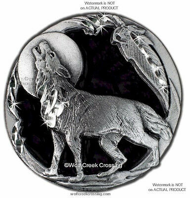 MOON SHADOW WOLF PIN for MALE ~ FEMALE WOLVES WILDLIFE ART JEWELRY FREE SHIP #E
