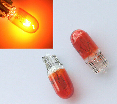 10x Orange Gelb Intense Standlicht W5W T10 12V/5W Glassockel Halogen Parklicht