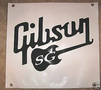 Gibson Guitar Sg Banner  - - -Outdoor Quality *strong*