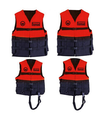 2 X Watersnake Nomad Adult or Child Life Jackets - Red Level 50 PFDs