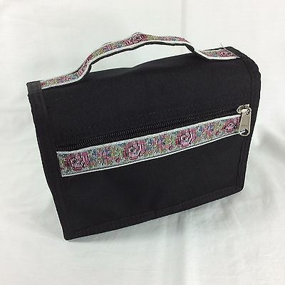 Floral Tapestry LDS Scripture Case Standard Mormon Tote Carrying Bag Cover Black