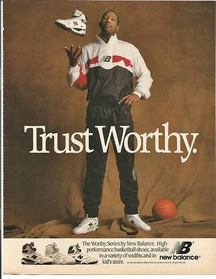 1989 James Worthy New Balance Shoes Basketball Advertisement