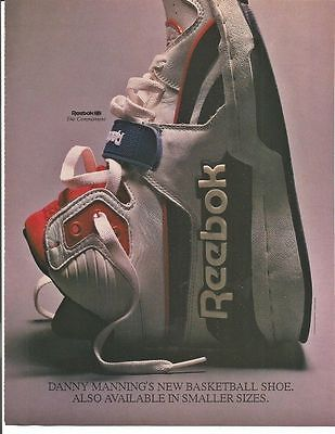 1988 Reebok Shoes Danny Manning Basketball Advertisement
