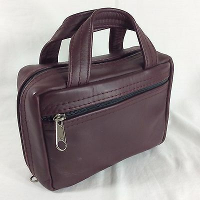 Maroon Leather LDS Scripture Case Standard Sz Mormon Quad Tote Carrying Mission