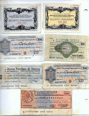 ITALY: Biglietto (Tickets) and Bank Notes