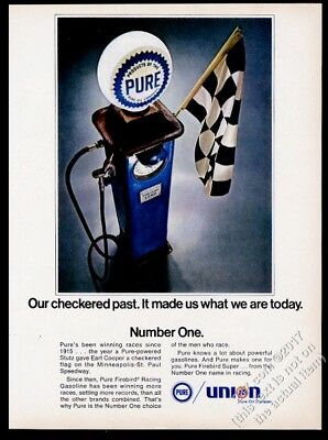 1969 Pure Oil Union 76 gas pump photo vintage print ad