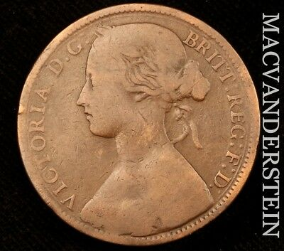 Great Britain: 1861 One Penny - Scarce!!  Better Date!!  No Reserve!!  #v196